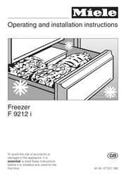 Miele F 9212 I User Manual