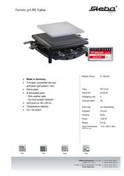 Steba RC 3 plus 62.09.00 Leaflet