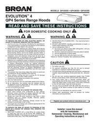 Broan EVOLUTION QP430SS User Manual