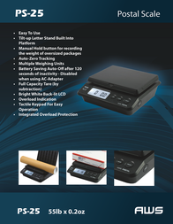American Weigh Scales PS-25 Leaflet