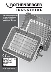 Rothenberger Industrial Gas patio heater 35984 35984 Data Sheet