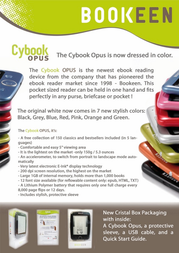 Bookeen Cybook OPUS A000050 Leaflet