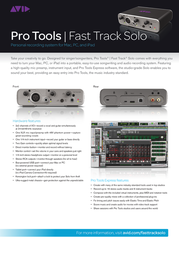 Avid Fast Track Solo with Pro Tools Express 9900-65326-00 Leaflet