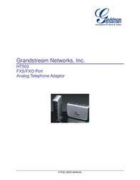 Grandstream HT503 HANDYTONE ATA-ROUTER HT503 User Manual