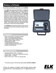 ELK Battery LifeTester -BLT User Manual