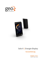 Geo GEO Solo II Display Pack Energy Cost Monitor LCD 50 Hz PCK-S2-007 User Manual