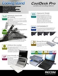 Recom CoolDesk Professional Black RC-CD-PRO-BK Leaflet