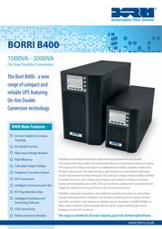 Borri B400 1kVA B400-010-B Leaflet