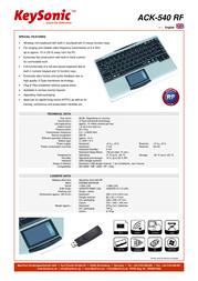 KeySonic Mini wireless 11864 Leaflet