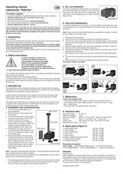 Esotec Solar fountain pump Palermo 101756 Leaflet