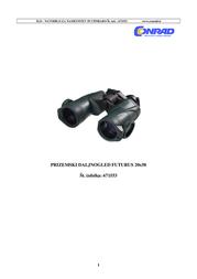 Yukon 20x50 Prism Binoculars 18-22035 Data Sheet