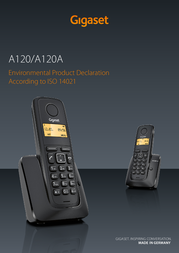 Gigaset A120 S30852-H2401-K103 User Manual
