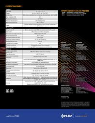 FLIR TG165 Infrared Thermometer TG165 Data Sheet