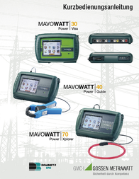 Gossen Metrawatt M817I Mains-analysis device, Mains analyser M817I Data Sheet