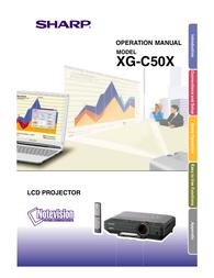 Sharp XG-C50X User Manual