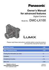 Panasonic DMC-LX100 User Manual