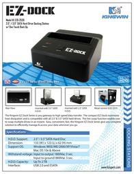 Kingwin EZ-dock EZD-2535 Leaflet