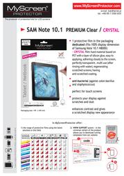 MyScreen PREMIUM Clear 5907996001767 产品宣传页
