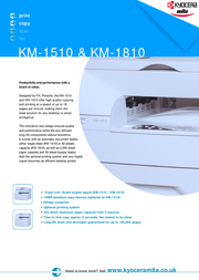 KYOCERA KM-1810 18 ppm A4 low volume copier / printer KM-1810 User Manual