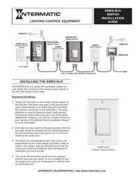 Intermatic emrs-w-d Installation Instruction