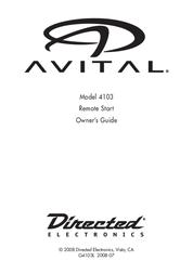 Avital 4103 Owner's Manual