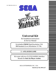 SEGA ROYAL RUMBLE 999-1117 User Manual