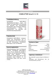 Cramolin Smoke detector test spray 1391411 1391411 Data Sheet