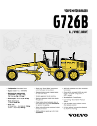 Volvo G726B User Manual