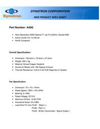 Dynatron A48G Leaflet