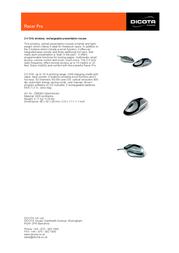 Dicota Racer Pro Z9828Z Leaflet