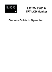 LUCE LCTV-2201A User Manual