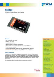 SCM SCR243 Leaflet