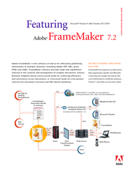 Adobe FrameMaker® 7.2 Win32 27910389 User Manual