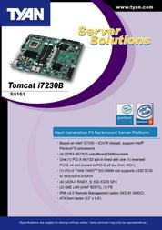 Tyan Tomcat i7230B (S5161) S5161G3NR Leaflet