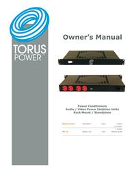 Torus Power conditioner rm 2.5 power conditioner User Manual