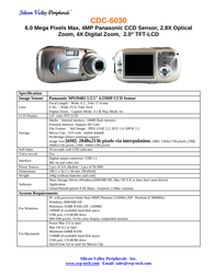 SVP cdc-6030 Specification Guide