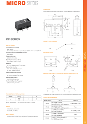 Zippy Microswitch 125 Vac 3 A 1 x On/(On) momentary 1 pc(s) DF-03S-0D-Z Data Sheet