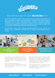 Relayr Ithings4u Gmbh WunderBar Internet of Things WiFi & Bluetooth Sensor Starter-Kit WunderBar WunderBar Data Sheet