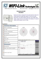 WiFi-Link 2.4GHz Square Grid Parabolic Antenna 24dBi WLG-2450-24 Leaflet