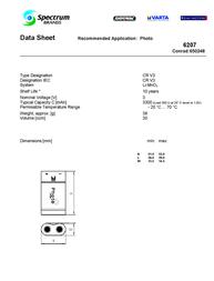 Varta CR-V3 NCR2V Data Sheet