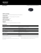 Sony BCR-NWU7 Specification Guide