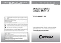 Greensaver SP50-12, 12V Ah lead acid battery SP50-12 Data Sheet