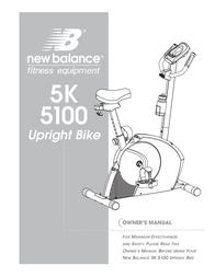 New Balance 5K 5100 User Manual