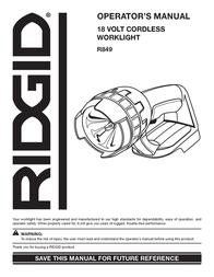 Ridgid R849 User Manual