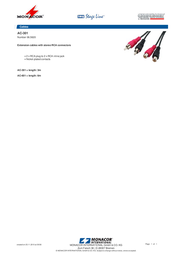 Monacor AC-301 06.5620 Leaflet