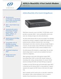 Zhone 6382-A1-200 Leaflet