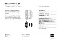Carl Zeiss C Biogon T* 4.5/21 ZM 1419-574 Leaflet