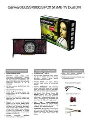 Gainward BP7900GS-512-TV-DD 471846200-8118 Leaflet