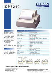 Citizen IDP-3240 Serial IDP-3240RF120V Leaflet