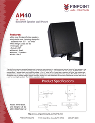 Pinpoint Mounts AM40-Black AM40-BLACK Leaflet